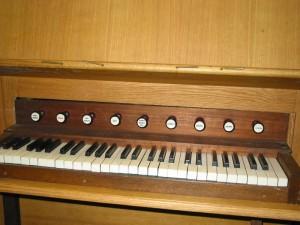 Clavier de l'orgue Philpott de Minihy-Tréguier
