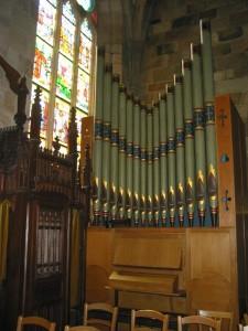 Façade de l'orgue de Minihy-Tréguier