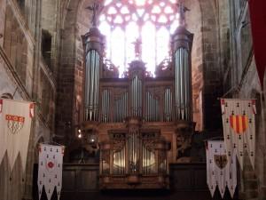 Buffet du grand orgue de la cathédrale de Tréguier