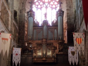Buffet du grand orgue de la cathédrale de Tréguier