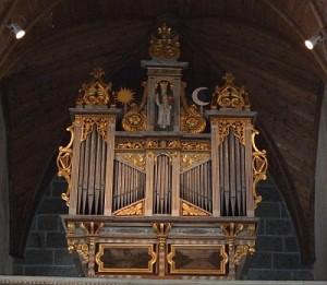 Façade de l'orgue de Lanvellec