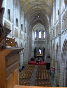 la nef vue de la tribune de l'orgue