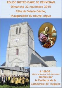 Bénédiction et Inauguration de l'orgue de Penvénan