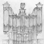 Essai de reconstitution du buffet originel de Vaignon par Eric Cordé (de St-Malo)