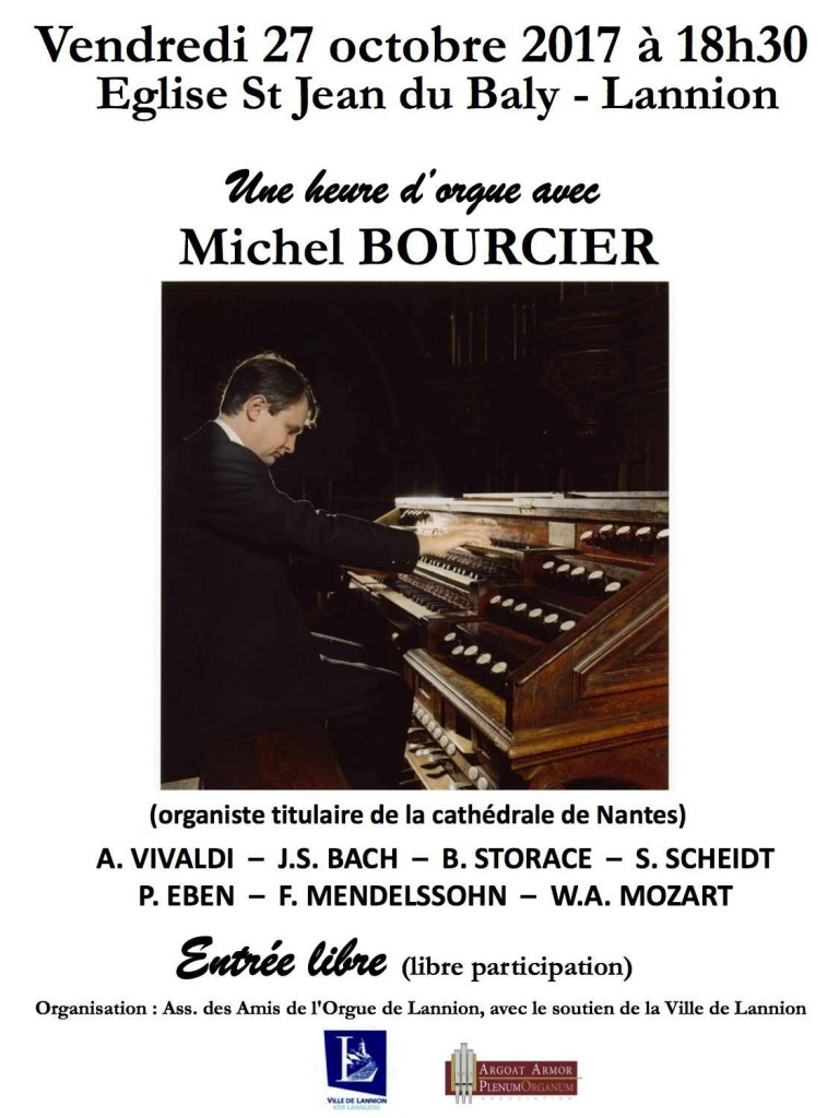 Une heure d'orgue avec Michel BOURCIER