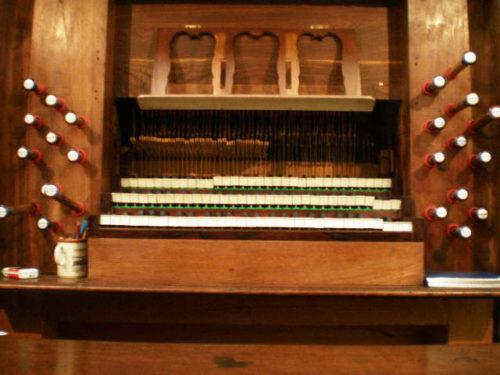 Orgue de la Roche-Derrien - clavier