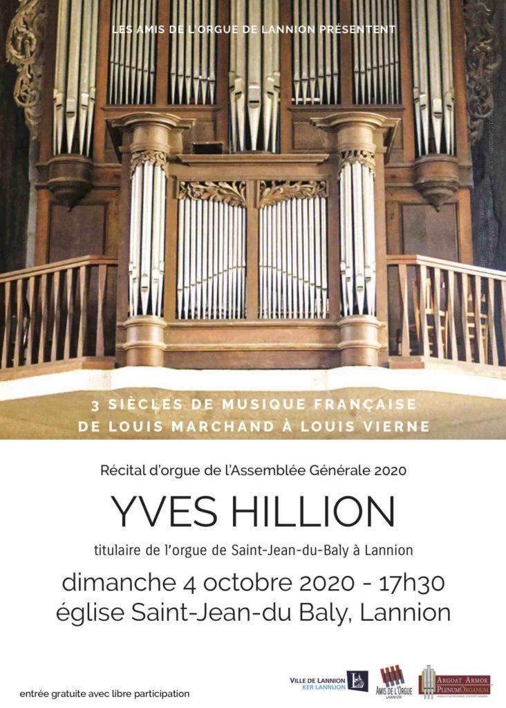 Concert d'orgue à St-Jean le 4 octobre 2020