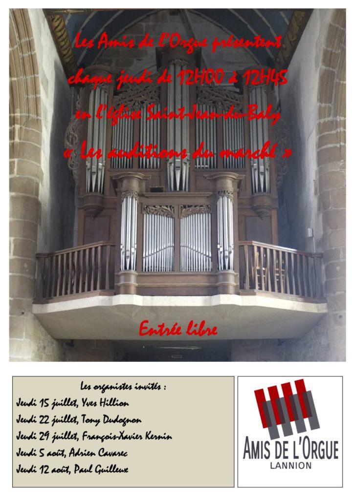 Auditions d'orgue à Lannion
